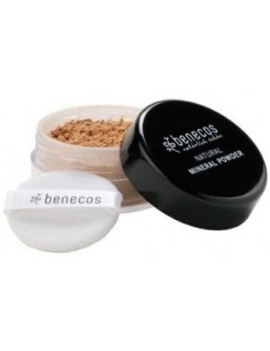 Benecos Puder mineralny do twarzy – Złocisty Orzech