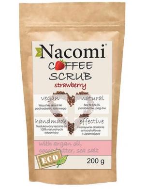 Nacomi Ujędrniający peeling kawowy do ciała z arganem i solą - Truskawka