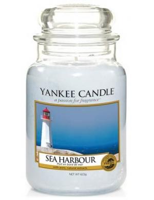 YANKEE CANDLE Duża świeca zapachowa w słoiku Sea Harbour