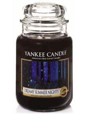 YANKEE CANDLE Duża świeca zapachowa w słoiku Dreamy Summer Nights