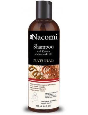 Nacomi Regenerujący szampon naturalny z keratyną