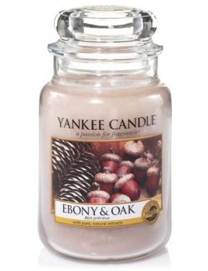 YANKEE CANDLE Duża świeca zapachowa w słoiku Ebony & Oak