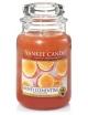 YANKEE CANDLE Duża świeca zapachowa w słoiku Honey Clementine