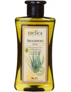 Melica Szampon dodający włosom blasku z proteinami pszenicy i aloesem