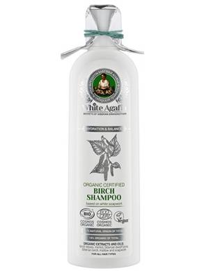 White Agafia Brzozowy szampon do włosów Nawilżenie & Balans