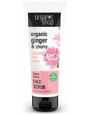 Organic Shop Oczyszczający scrub do twarzy Imbir & Wiśnia