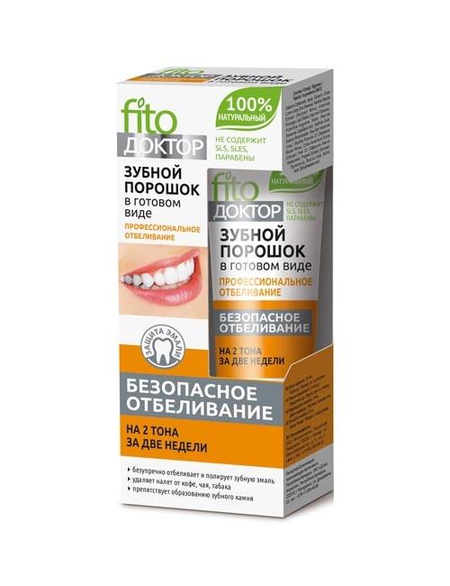 Fitokosmetik Profesjonalny wybielający proszek do zębów w paście
