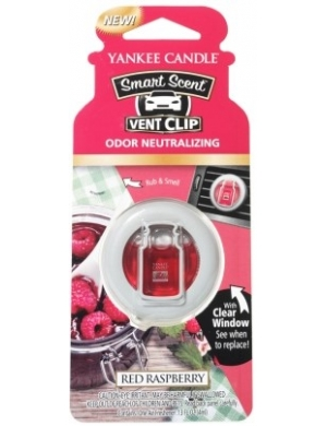 YANKEE CANDLE Zapach do samochodu Smart Scent™ Vent Clips - Red Raspberry