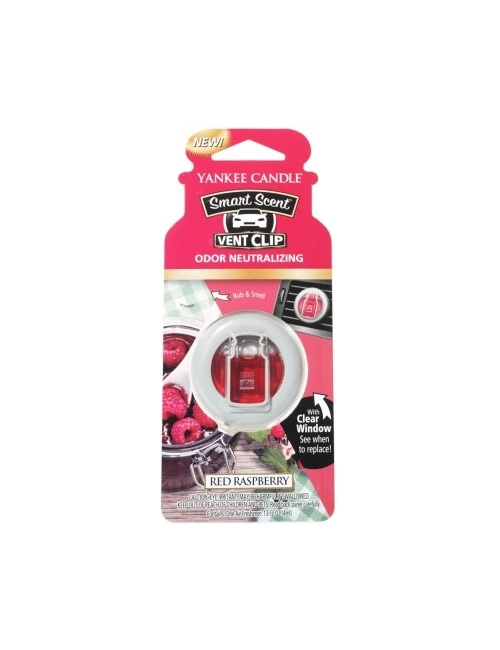 YANKEE CANDLE Zapach do samochodu Smart Scent™ Vent Clips - Red Raspberry
