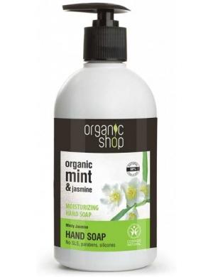 Organic Shop Nawilżające mydło do rąk Jaśmin i Mięta