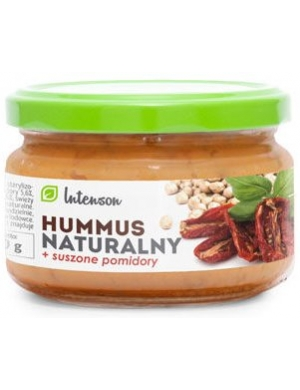 Intenson Hummus naturalny z suszonymi pomidorami 190g