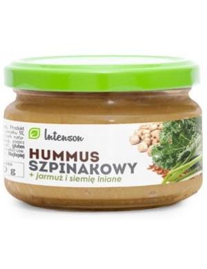 Intenson Hummus szpinakowy z jarmużem i siemieniem lnianym 190g