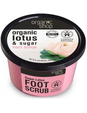 Organic Shop Organiczny scrub cukrowy do stóp Kwiat Lotosu