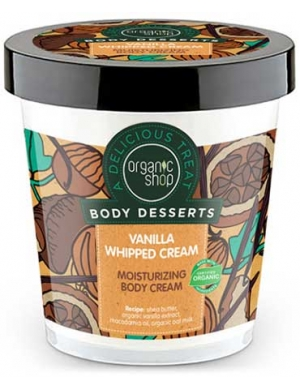 Organic Shop Nawilżający krem do ciała Waniliowa Śmietanka - Body Desserts