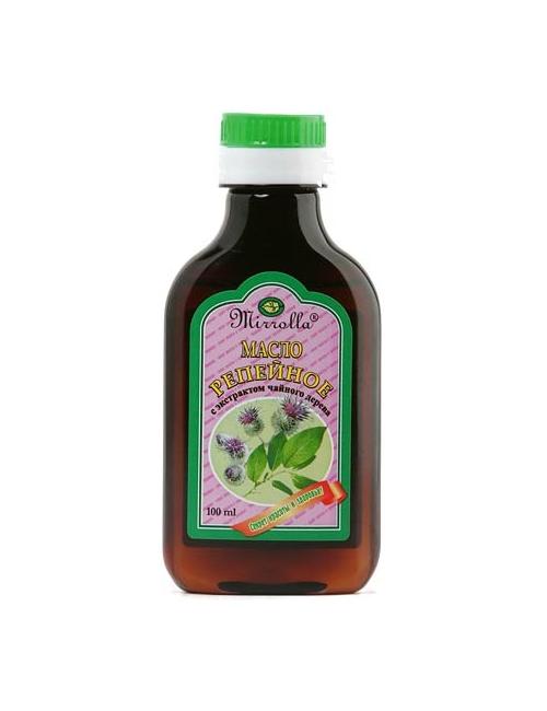 Mirrolla Olej łopianowy z ekstraktem z drzewa herbacianego do włosów i skóry głowy
