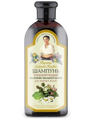 Tonizujący szampon do włosów przetłuszczających się - Receptury Babuszki Agafii