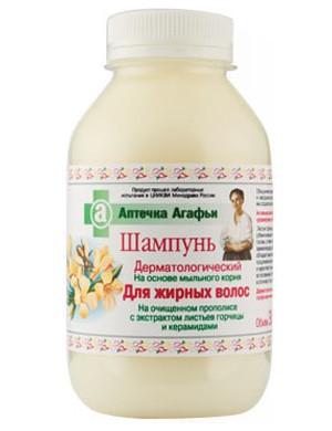 Dermatologiczny szampon do włosów tłustych - Apteczka Babci Agafii