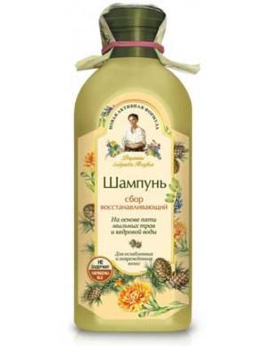Regenerujący szampon ziołowy do włosów - Receptury Babuszki Agafii