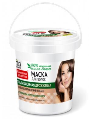 Fitokosmetik Tradycyjna maska drożdżowa na porost włosów