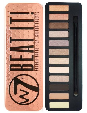 Paleta cieni do powiek W7 Beat It! Natural Nudes Palette