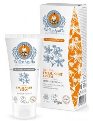 Krem do twarzy na noc +50 lat Aktywne Odmłodzenie - White Agafia