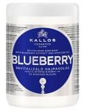 KALLOS Blueberry, Rewitalizująca maska do włosów suchych i zniszczonych 1000ml