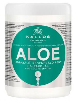 KALLOS Aloe, Aloesowa maska do włosów suchych i łamliwych 1000ml