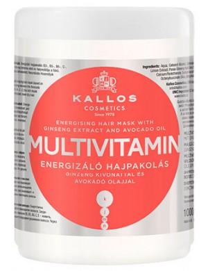 KALLOS Multivitamin, Witaminowa maska na porost włosów 1000ml