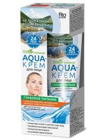 Odżywczy AQUA - krem do twarzy z wodą termalną i olejem brzoskwini - Fitokosmetik