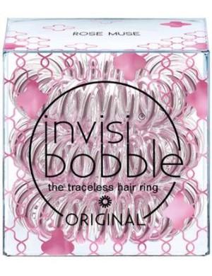 InvisiBobble Original Metaliczne gumki do włosów Rose Muse