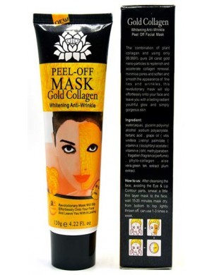 Przeciwzmarszczkowa maska kolagenowa peel-off ze złotem