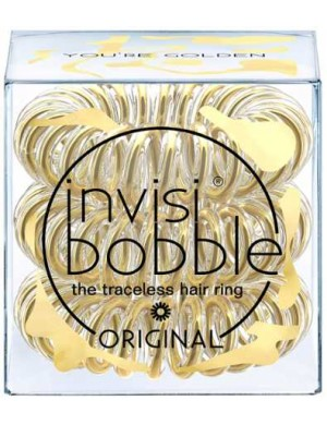 InvisiBobble Original Metaliczne gumki do włosów You're Gold