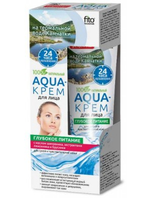 Odżywczy AQUA - krem do twarzy z wodą termalną i olejem z dzikiej róży - Fitokosmetik