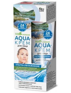 Nawilżający Aqua - krem do twarzy z wodą termalną i algami - Fitokosmetik