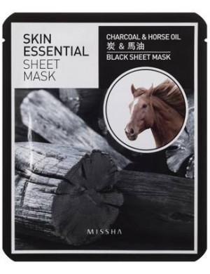 Maseczka w płachcie z węglem drzewnym i końskim olejem - Missha Essential Sheet Mask