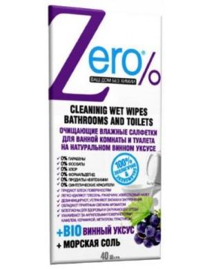 ZERO Ekologiczne chusteczki czyszczące do łazienki i toalety