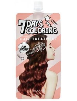 MISSHA 7-dniowa farba do włosów - Seven Days Coloring Hair Treatment - Pink Brown