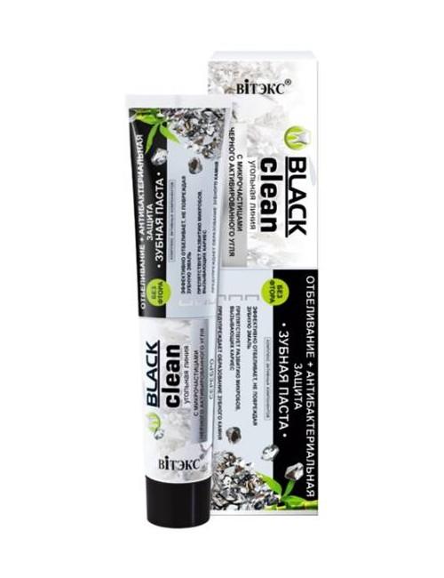 Black Clean Wybielająca pasta do zębów z aktywnym węglem i jonami srebra