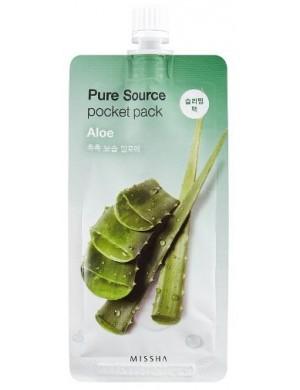 MISSHA Nawilżająca maseczka do twarzy na noc - Pure Pocket Aloe