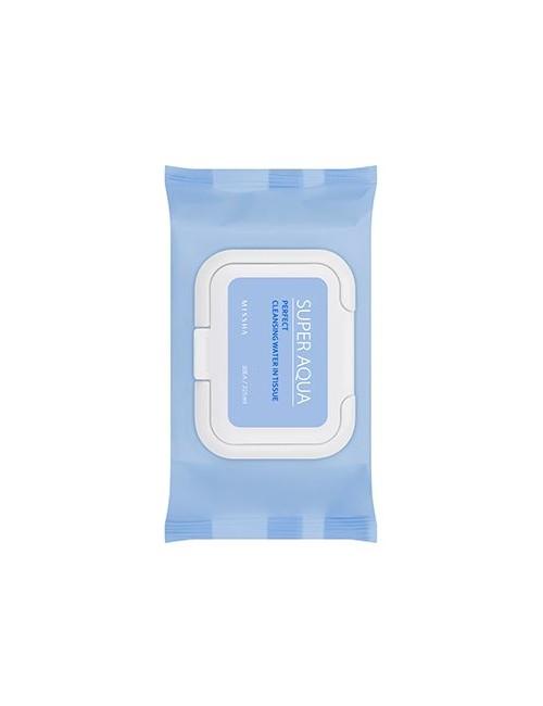 MISSHA Super Aqua Chusteczki do oczyszczania i demakijażu twarzy z olejkami