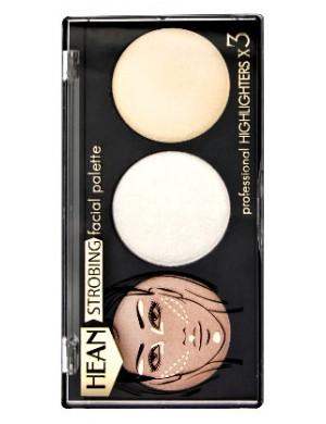 HEAN Paleta rozświetlaczy do twarzy Strobing Facial Palette