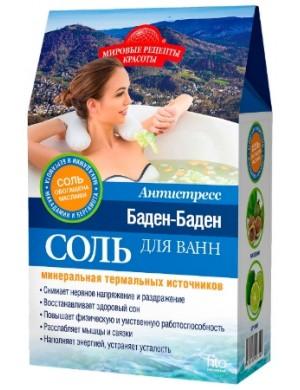 Fitokosmetik Antystresowa sól do kąpieli z bergamotką i olejem makadamia