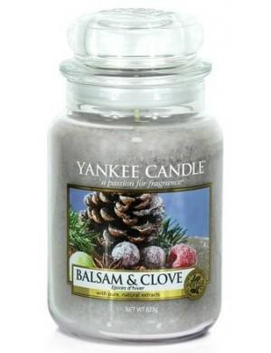 Yankee Candle Świeca zapachowa Balsam & Clove – duży słój