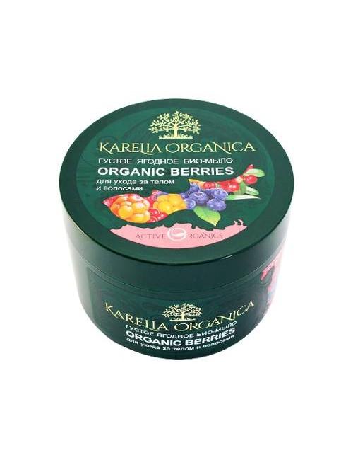 Karelia Organica Gęste bio mydło jagodowe do ciała i włosów bez SLS 500ml
