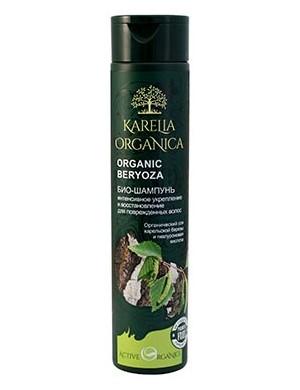 Karelia Organica Wzmacniający bio szampon do włosów z brzozą Beryoza