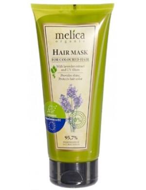 Melica Odżywcza maska do włosów farbowanych z lawendą i filtrami UV