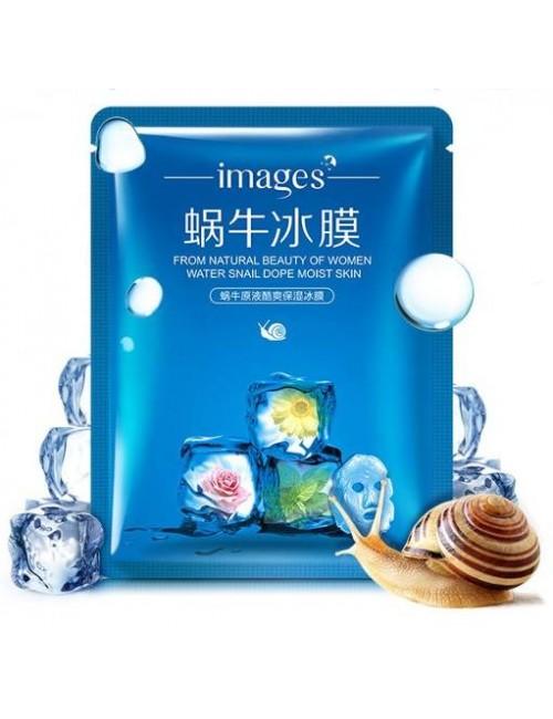 Images Nawilżająca maska w płacie z filtratem ze śluzu ślimaka Snail Blue