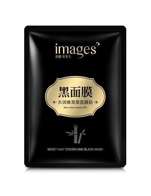 Images Oczyszczająca czarna maska w płacie z bambusowym węglem Black Mask