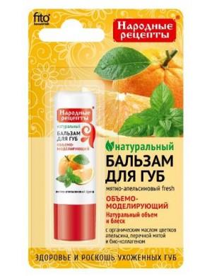Fitokosmetik Naturalny balsam do ust Miętowo - pomarańczowy