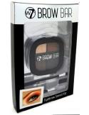 W7 Zestaw do stylizacji brwi (cienie, szablony, pędzelki) - Brow Bar